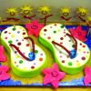 Novelty Cake by Cakeland of the Lakes. Flip flops
